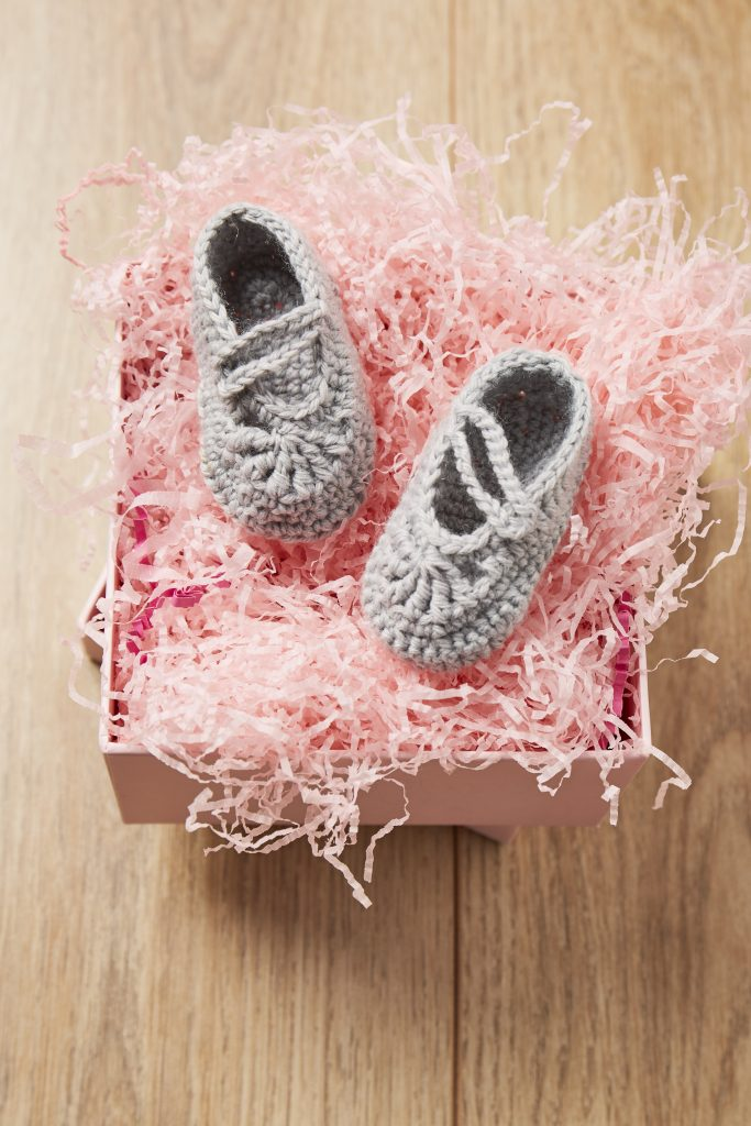 crochet baby slippers pattern