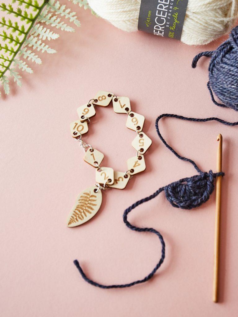 crochet row counter bracelet