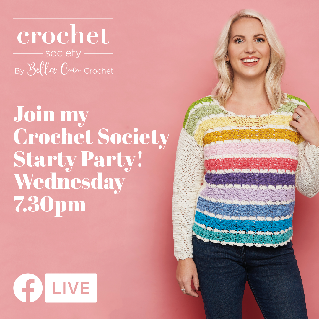 Box 1 Starty Party Join Me Live On Facebook Crochet Society