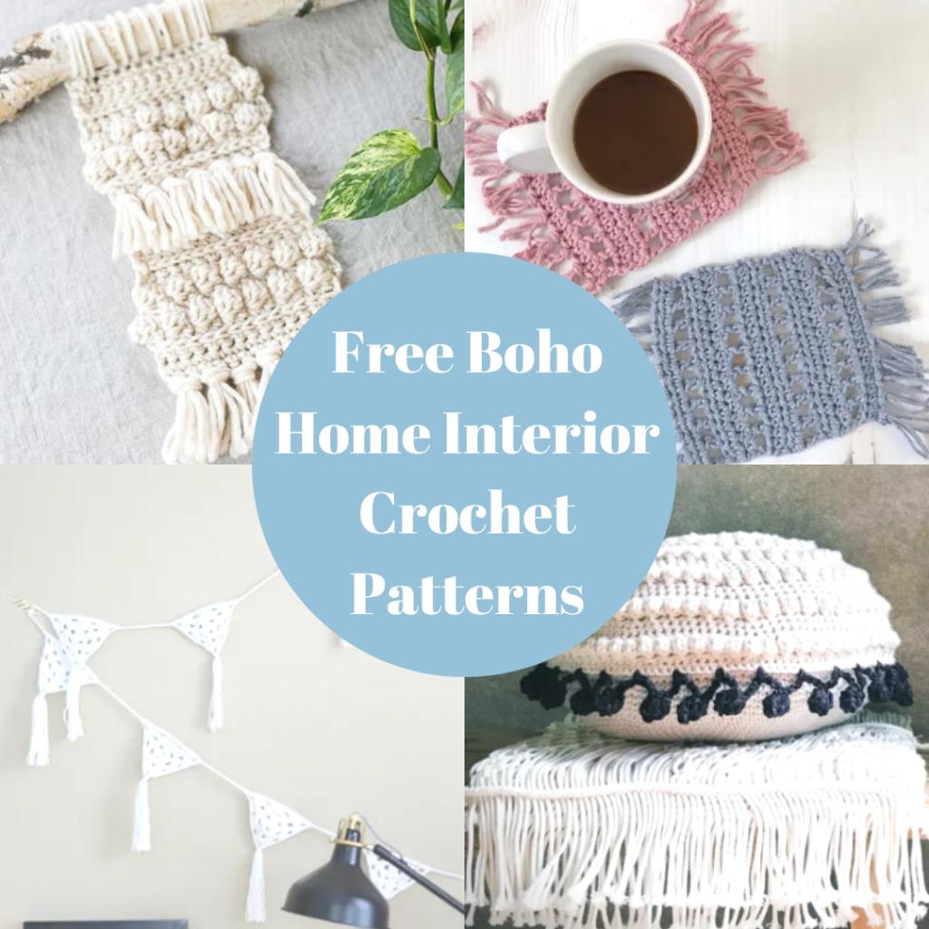Free Boho Home Accessory Crochet Patterns Crochet Society