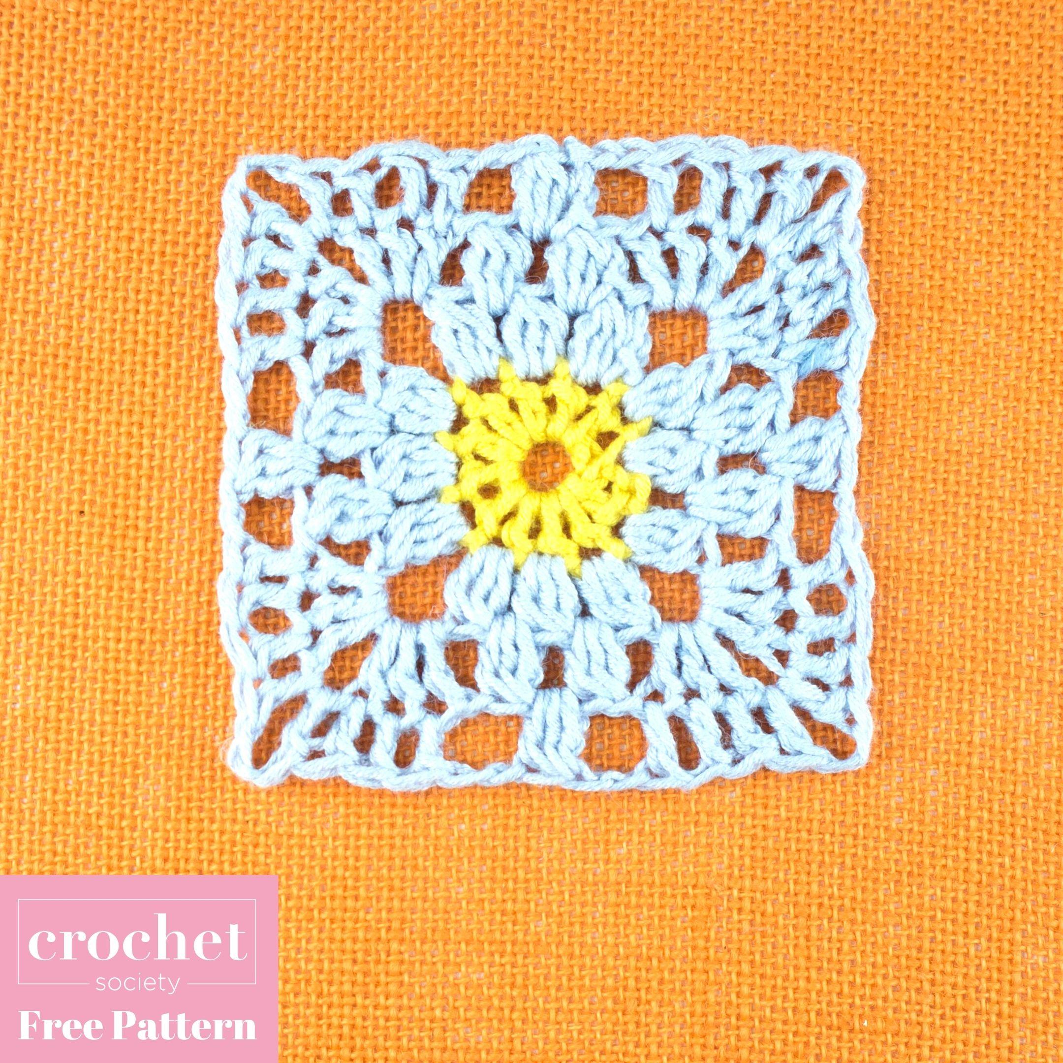 FREE crochet pattern: floral granny square