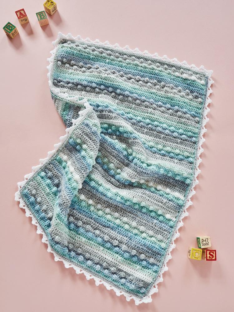 crochet baby blanket bobble stitch