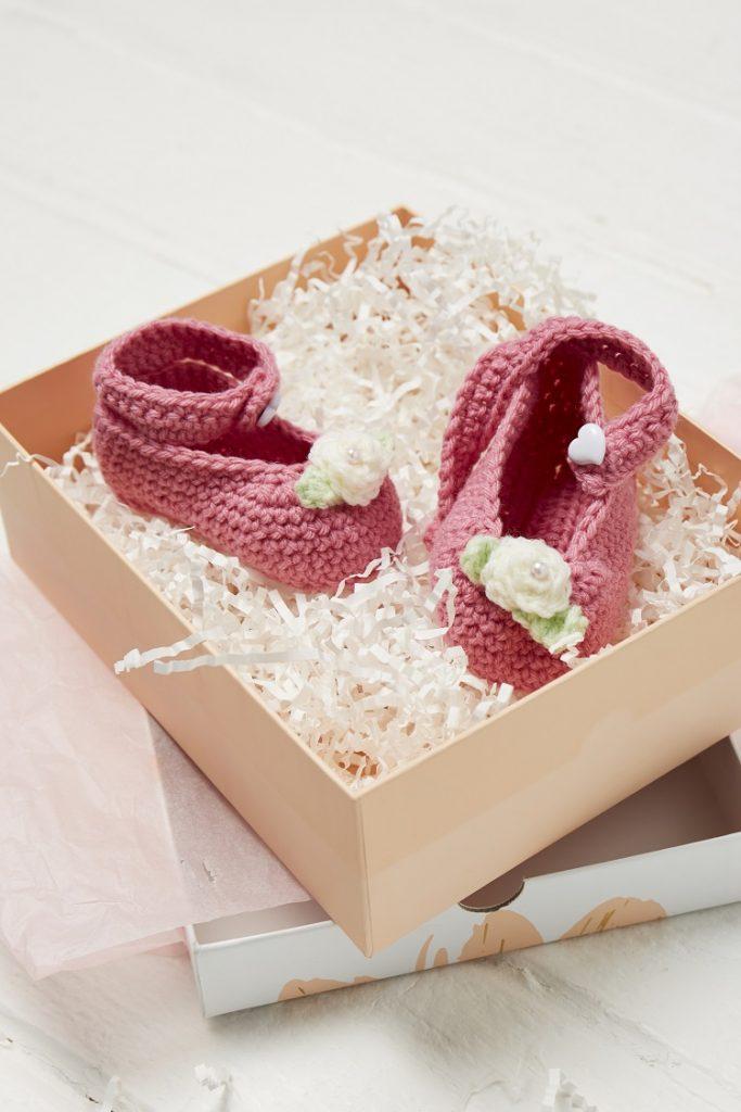crochet baby slippers pattern