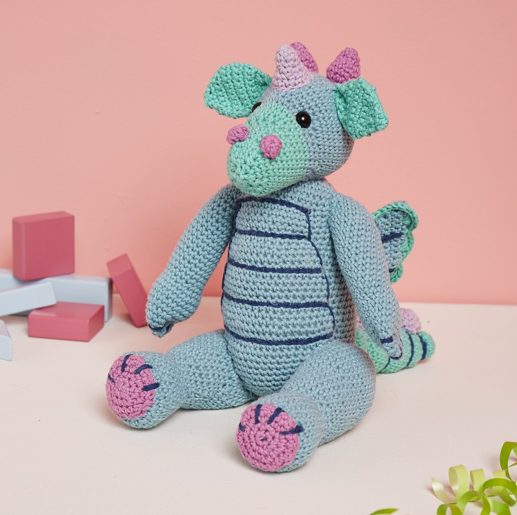 crochet dragon pattern baby toy