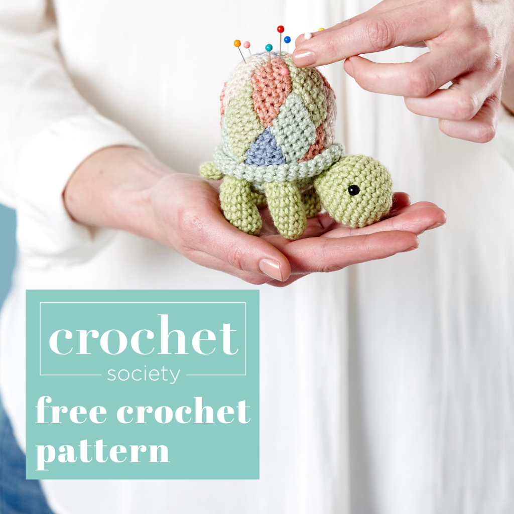 free crochet tortoise pattern pin cushion