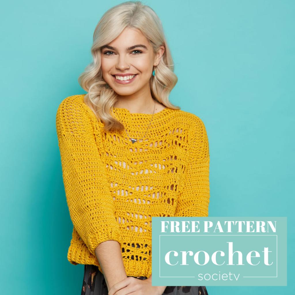 free ightweight crochet sweater pattern 2