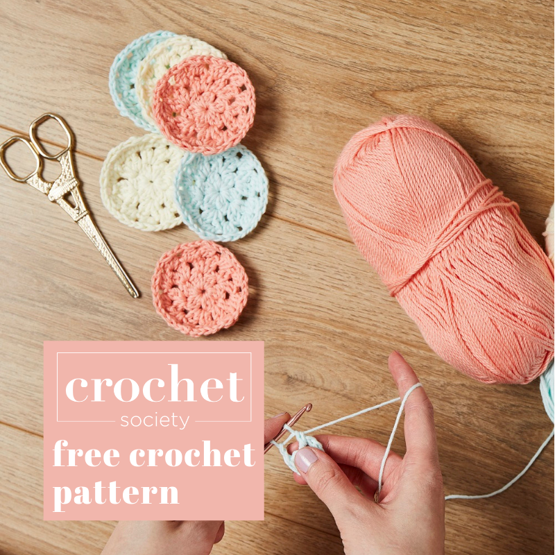 free makeup pad crochet pattern square