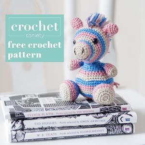 free zebra crochet pattern thumbnail