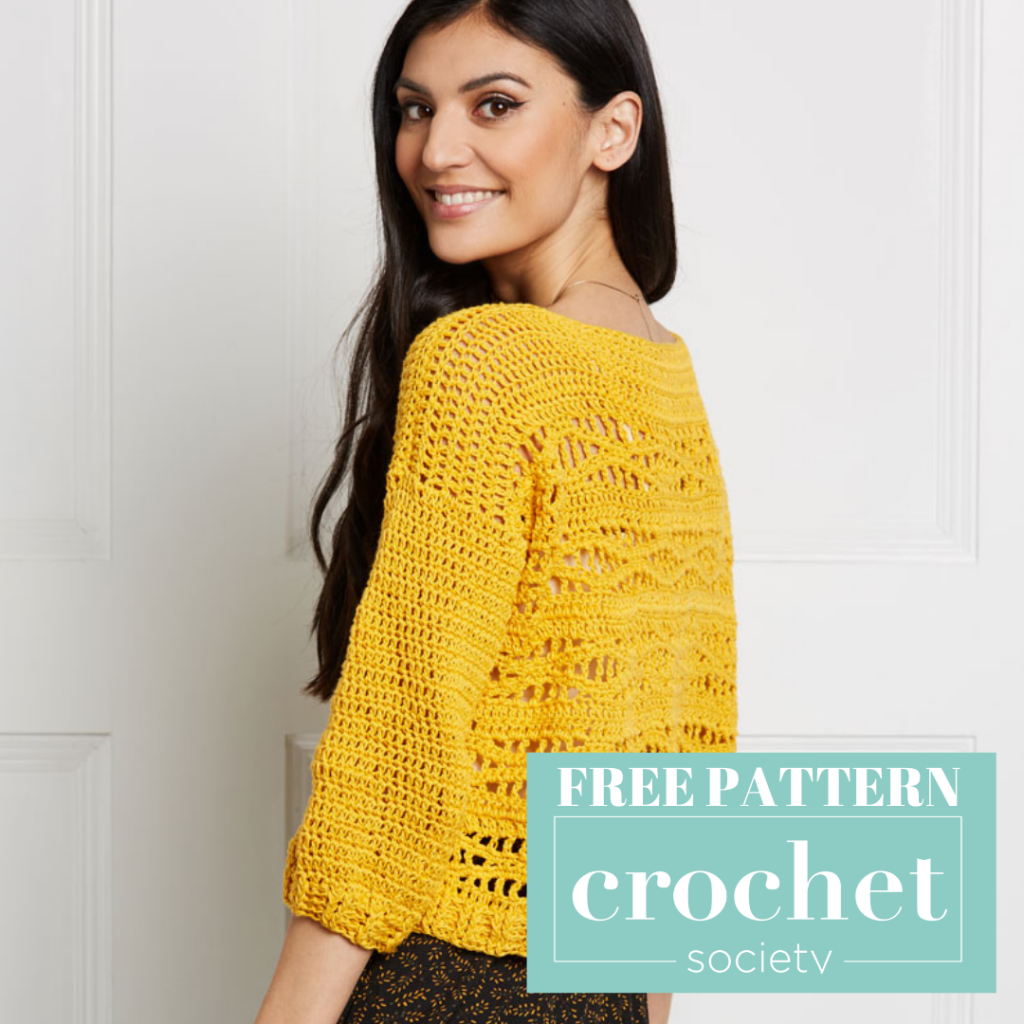 lightweight crochet sweater pattern