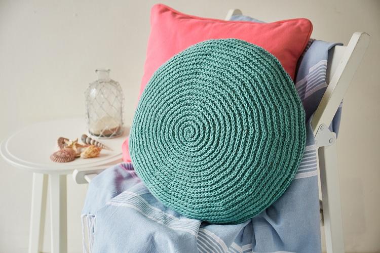 seashell crochet cushion pattern