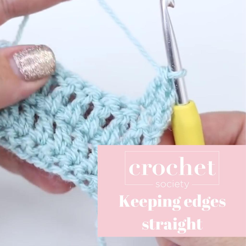 straight edges in crochet